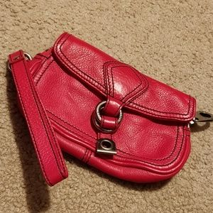 Marc by Marc Jacobs Red Wristlet Leather